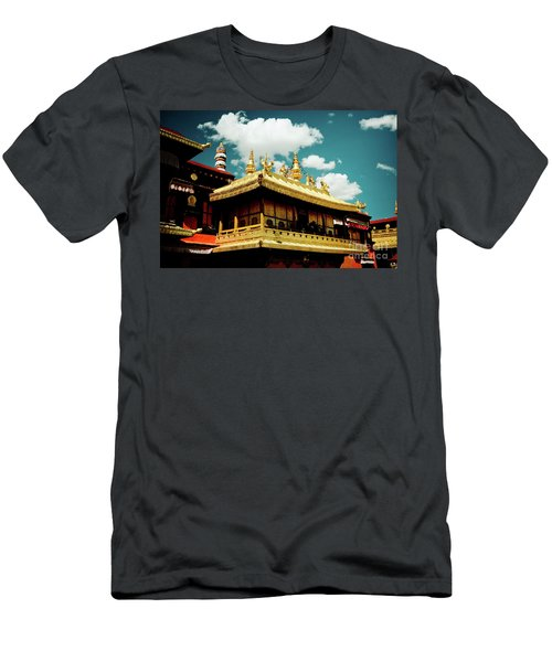 Jokhang Temple Fragment  Lhasa Tibet Artmif.lv Men's T-Shirt (Athletic Fit)