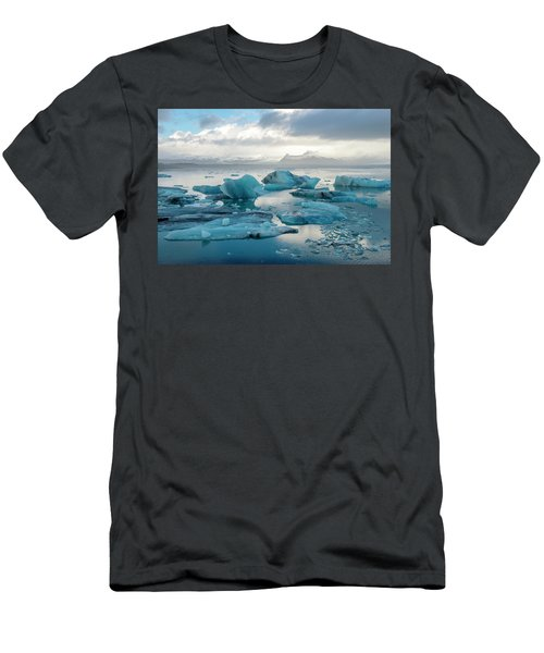 Jokulsarlon, The Glacier Lagoon, Iceland 6 Men's T-Shirt (Slim Fit) by Dubi Roman