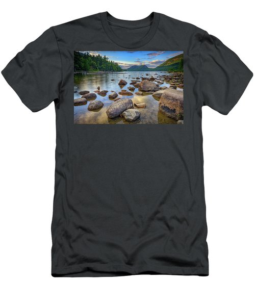 Jordan Pond And The Bubbles Men's T-Shirt (Slim Fit) by Rick Berk
