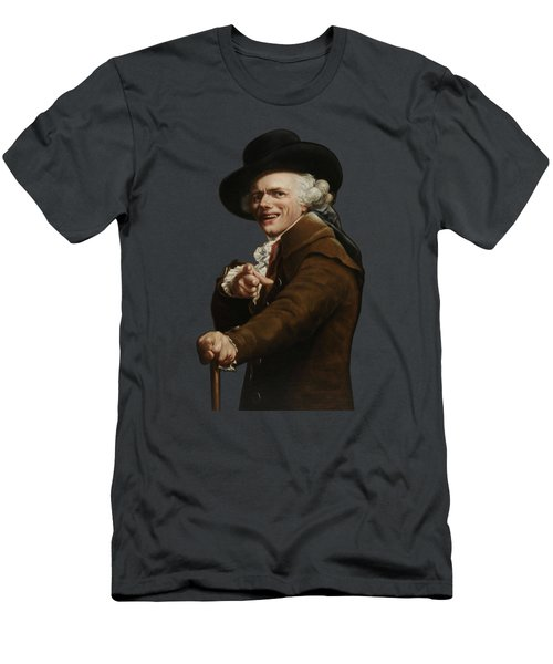 Joseph Ducreux - Guise Of A Mocker Painting  Men's T-Shirt (Athletic Fit)