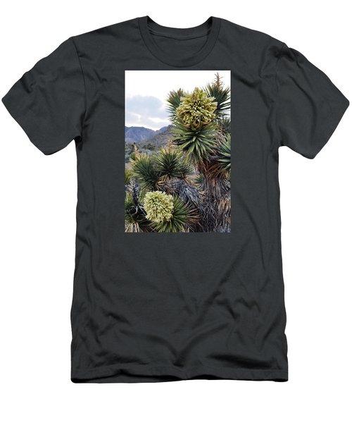 Joshua Tree Bloom Rainbow Mountain Men's T-Shirt (Slim Fit) by Kyle Hanson