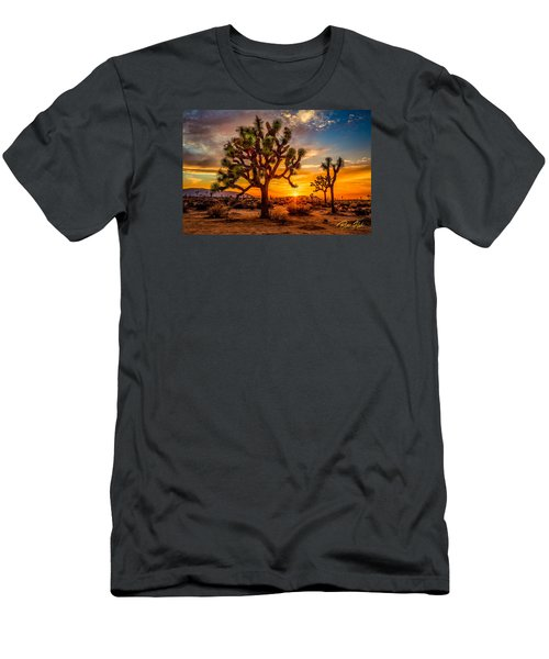 Men's T-Shirt (Athletic Fit) featuring the photograph Joshua Tree Glow by Rikk Flohr