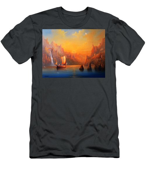 Journey To The Undying Lands Men's T-Shirt (Slim Fit) by Joe  Gilronan