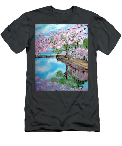 Joy Of Spring. Acrylic Painting For Sale Men's T-Shirt (Athletic Fit)