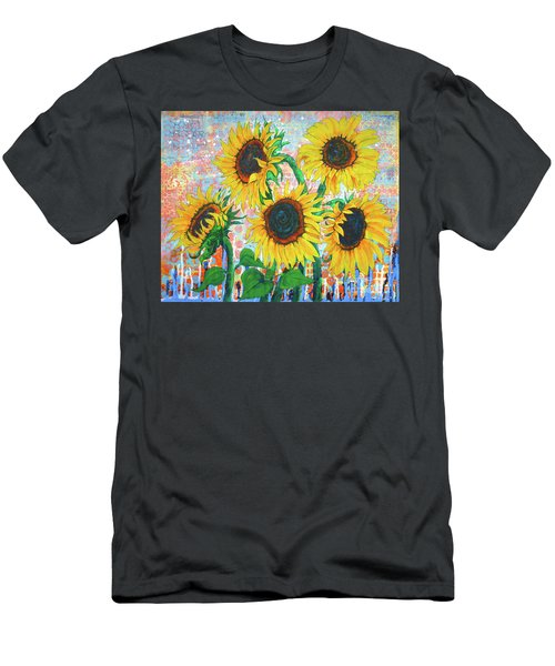 Joy Of Sunflowers Desiring Men's T-Shirt (Athletic Fit)