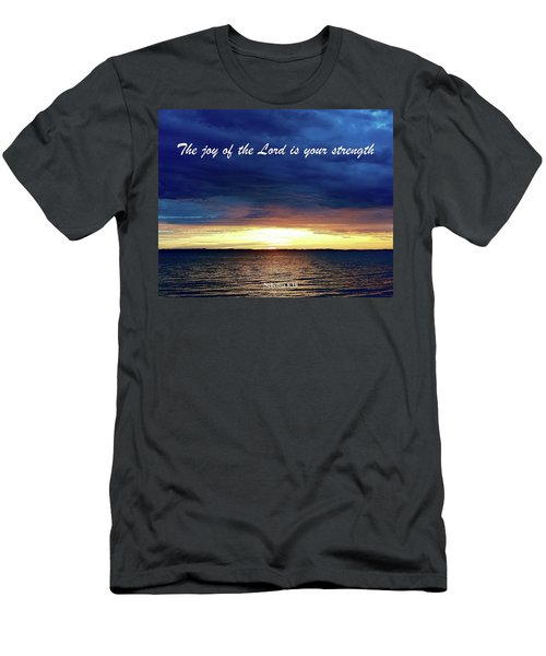 Joy Of The Lord Men's T-Shirt (Slim Fit) by Russell Keating