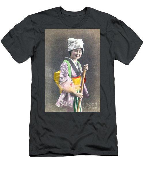 Japanese Woman Men's T-Shirt (Athletic Fit)