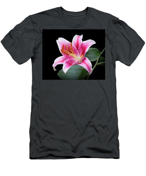 July Stargazer Lily Men's T-Shirt (Athletic Fit)
