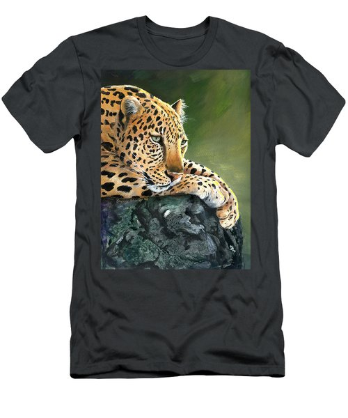 Men's T-Shirt (Slim Fit) featuring the painting Jumanji by Sherry Shipley