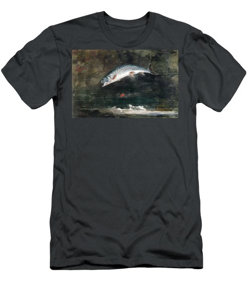 Jumping Trout Men's T-Shirt (Athletic Fit)