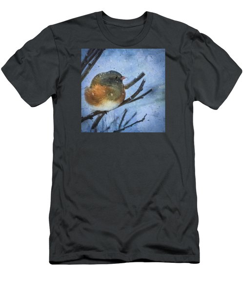 Junco On Winter Day Men's T-Shirt (Athletic Fit)