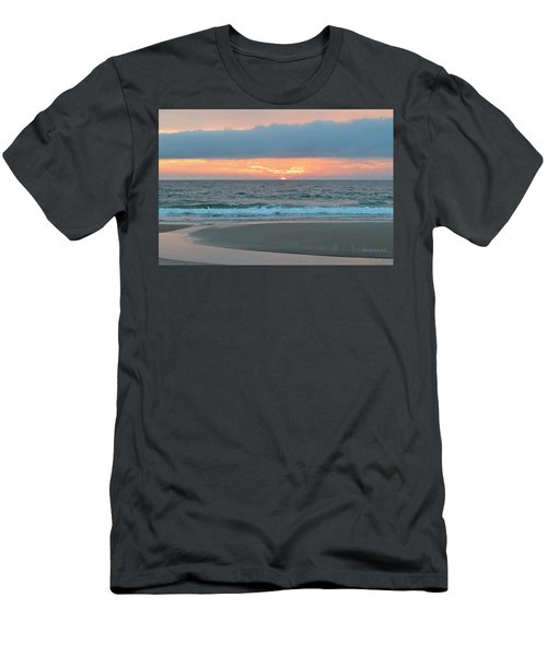 Men's T-Shirt (Athletic Fit) featuring the photograph June 20 Nags Head Sunrise by Barbara Ann Bell
