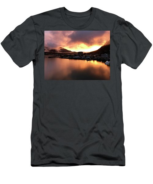 Juneau Sunset Men's T-Shirt (Athletic Fit)