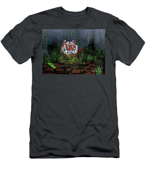 Jungle Cat Men's T-Shirt (Slim Fit) by Myrna Walsh