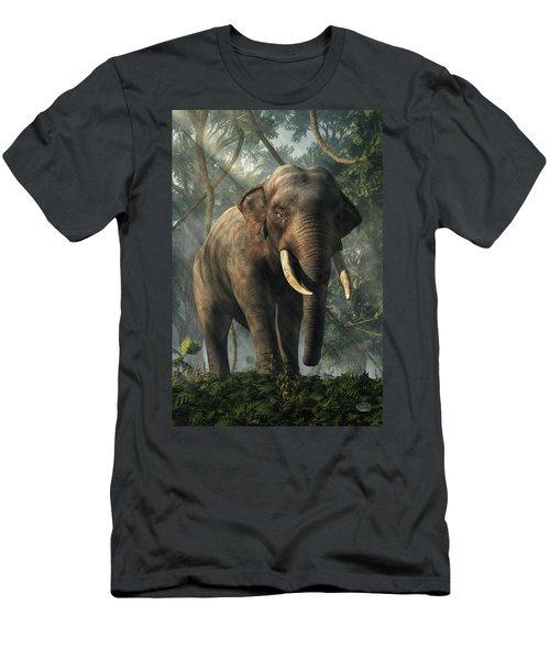 Men's T-Shirt (Athletic Fit) featuring the digital art Jungle Elephant by Daniel Eskridge