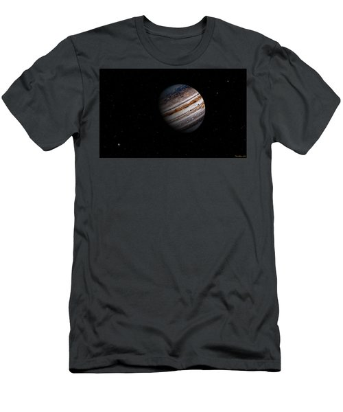 Jupiter And It 4 Major Moons Men's T-Shirt (Athletic Fit)