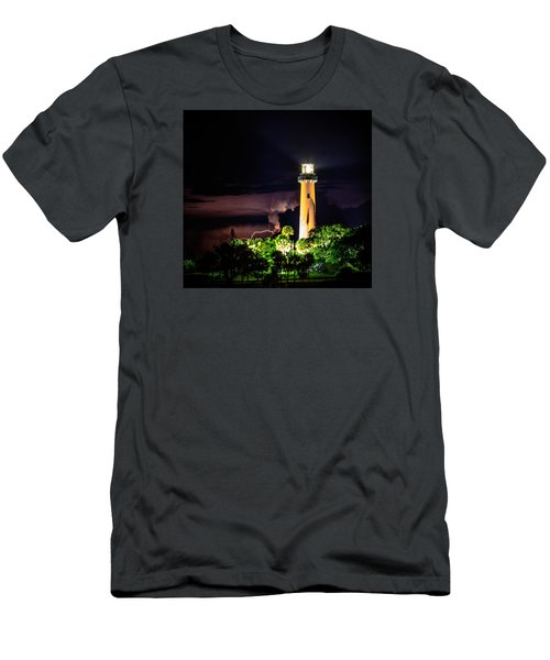Jupiter Lighthouse Lightning Men's T-Shirt (Athletic Fit)