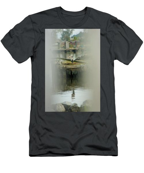 Men's T-Shirt (Slim Fit) featuring the photograph Just A Little Older With A Little More Grey... by John Glass
