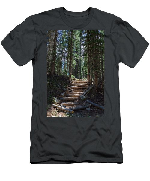 Men's T-Shirt (Athletic Fit) featuring the photograph Just Another Stairway To Heaven by James BO Insogna