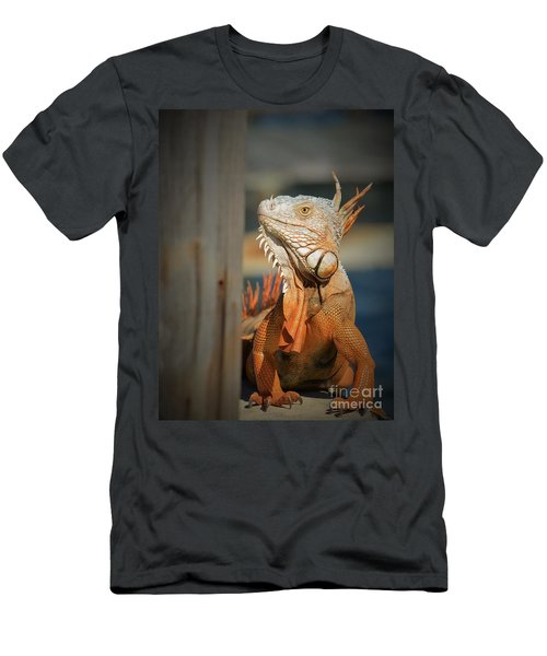 Men's T-Shirt (Slim Fit) featuring the photograph Just Around The Corner by Pamela Blizzard