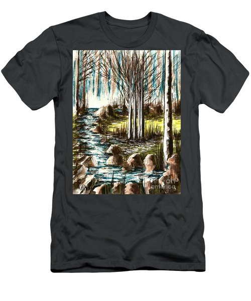 Just Around The Riverbend  Men's T-Shirt (Athletic Fit)