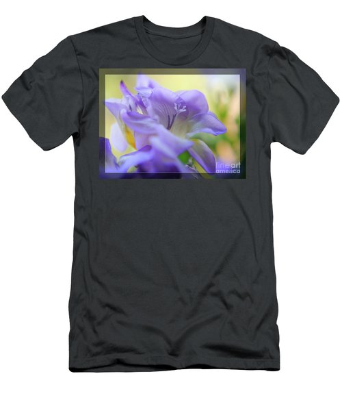 Men's T-Shirt (Athletic Fit) featuring the photograph Just Freesia's by Lance Sheridan-Peel