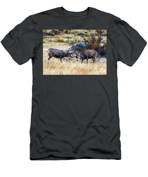 Men's T-Shirt (Athletic Fit) featuring the photograph Just Playing  by Bitter Buffalo Photography