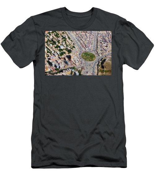 Kabul Traffic Circle Aerial Photo Men's T-Shirt (Athletic Fit)