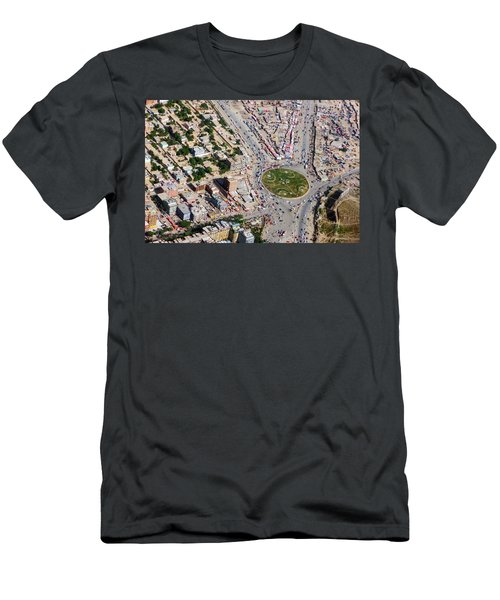 Kabul Traffic Circle Aerial Photo Men's T-Shirt (Athletic Fit)