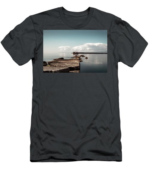 Kalamata Port / Greece Men's T-Shirt (Slim Fit) by Stavros Argyropoulos