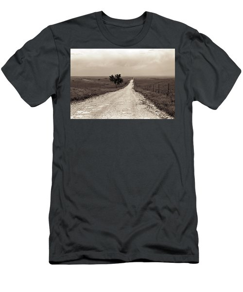Kansas Country Road Men's T-Shirt (Athletic Fit)