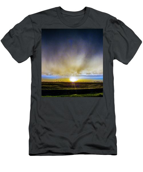 Men's T-Shirt (Athletic Fit) featuring the photograph Kansas Storm Chase Bust Day 005 by NebraskaSC