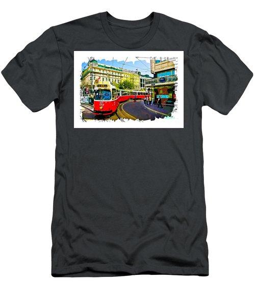 Kartner Strasse - Vienna Men's T-Shirt (Slim Fit) by Tom Cameron
