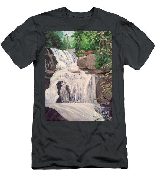 Katahdin Falls Men's T-Shirt (Athletic Fit)