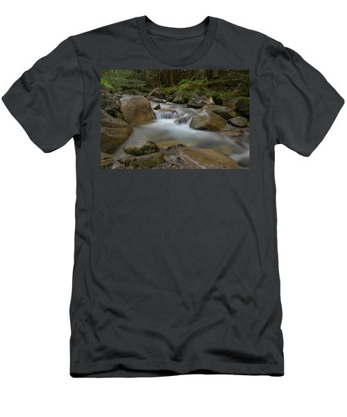 Katahdin Stream Cascades Men's T-Shirt (Athletic Fit)