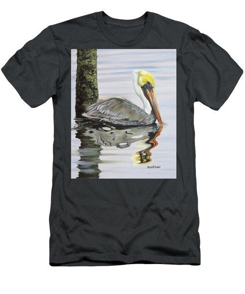 Kathy's Pelican Men's T-Shirt (Slim Fit) by Phyllis Beiser