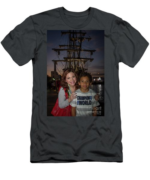 Men's T-Shirt (Slim Fit) featuring the photograph Katy And Baby James Art by Reid Callaway