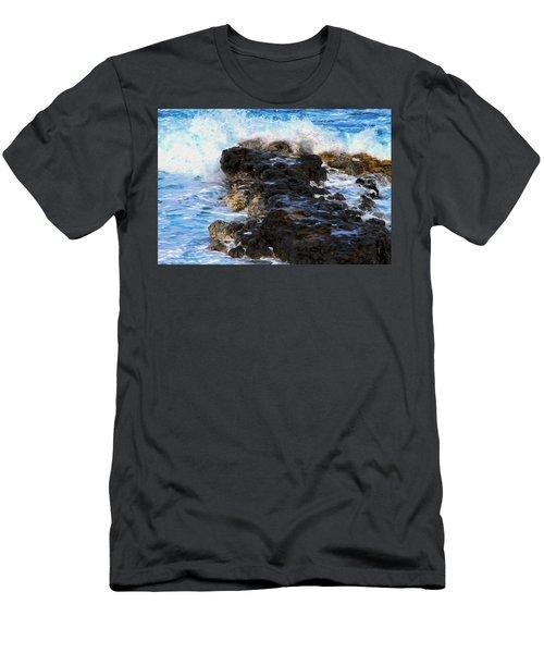 Kauai Rock Splash Men's T-Shirt (Athletic Fit)