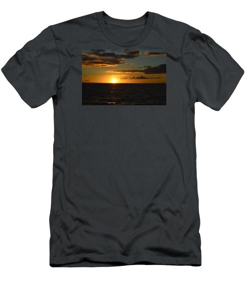 Men's T-Shirt (Slim Fit) featuring the photograph Kauai Sunset by James McAdams