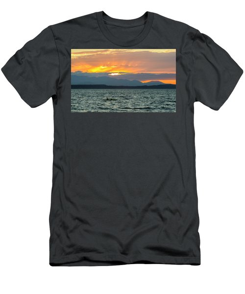 Kayaking In The Puget Sound Men's T-Shirt (Athletic Fit)