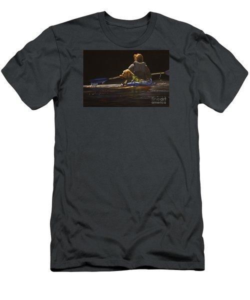 Kayaking With Your Best Friend Men's T-Shirt (Slim Fit) by Laurie Tietjen