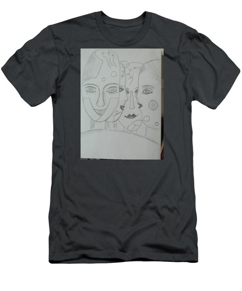 Men's T-Shirt (Slim Fit) featuring the drawing Keeper Of Secrets by Sharyn Winters