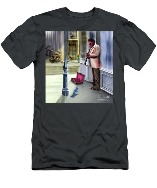 Kentucky Blue Bird Men's T-Shirt (Athletic Fit)