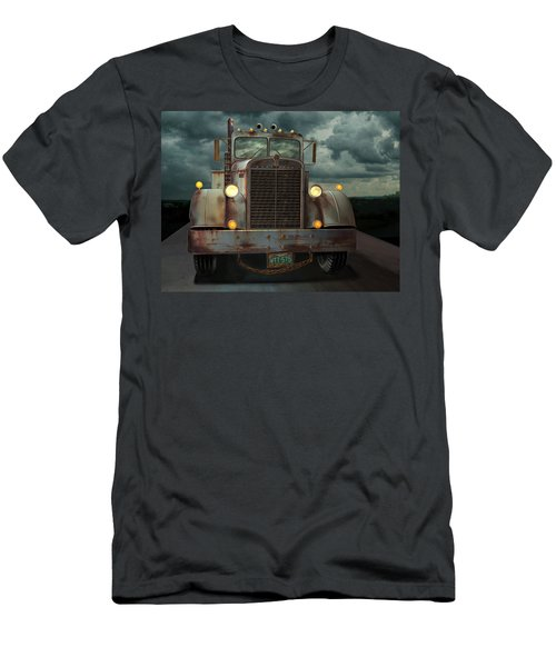 Men's T-Shirt (Slim Fit) featuring the digital art Kenworth Old Workhorse by Stuart Swartz