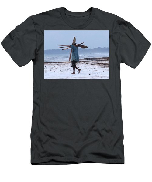Kenyan Fisherman And Oars Men's T-Shirt (Athletic Fit)