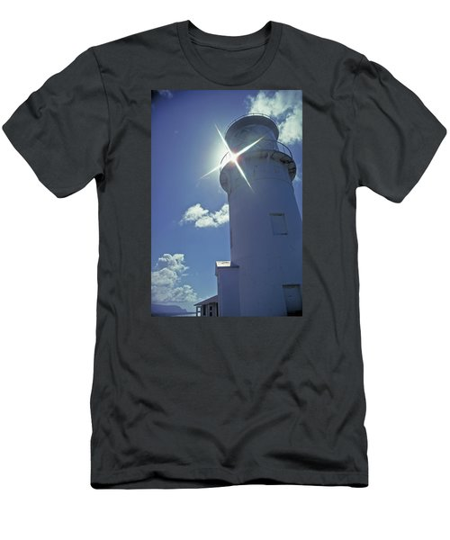 Men's T-Shirt (Slim Fit) featuring the photograph Kilauea Lighthouse by Marie Hicks