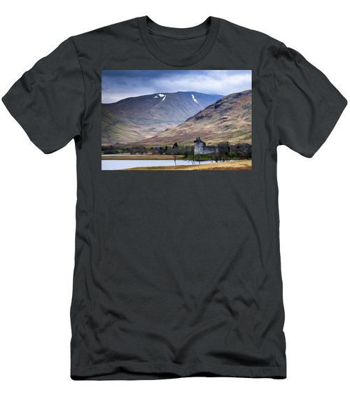Kilchurn Castle On Loch Awe In Scotland Men's T-Shirt (Athletic Fit)