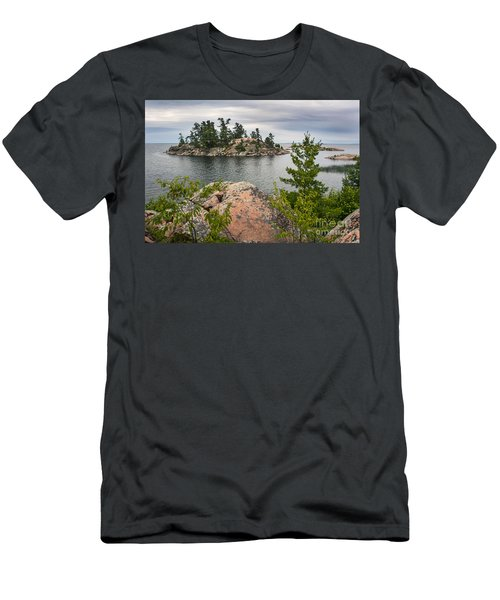 Killarney-island-pink-4513 Men's T-Shirt (Athletic Fit)