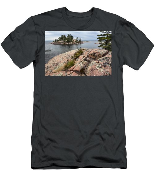 Killarney-island-pink Rocks-4539 Men's T-Shirt (Athletic Fit)