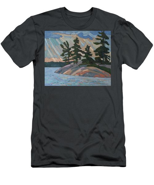 Killbear Pines And Morning Crepuscular Rays Men's T-Shirt (Athletic Fit)